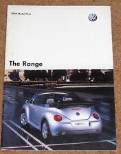 2004 VW RANGE Sales Brochure - Golf R32 GTI Polo Lupo Bora Passat Phaeton Beetle