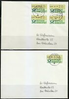 Germany 1982 two ATM DBP stamps covers. Used. Munchen 906. Munich 906