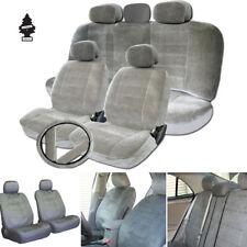 New Grey Velour Fabric Car Truck Seat Steering Cover Full Gift Set For Chevrolet