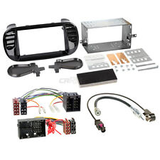 Fiat 500 312 07-15 2-DIN Car Radio Installation Set+Cable,Radio faceplate