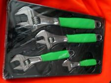 "Snap-on Green 4 Piece Flank Drive Plus Adjustable Wrench Set (6–12"") FADH704BG"