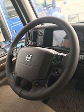 Para Volvo Vnl 630 camión Cuero Italiano Real Marrón Cubierta Del Volante Nuevo