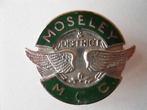 MOSELEY AND DISTRICT MCC ENAMEL BADGE