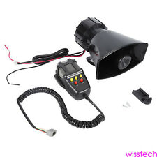 Durable 12V 100W Car Alarm Police Fire Loud Speaker PA Siren Horn MIC System