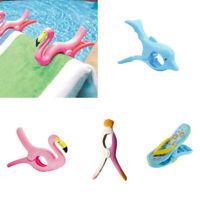 Plastic Sun Lounger Beach Towel Wind Clips Sunbed Pegs Fun Dolphin Clips Pool