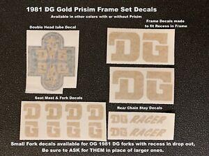 DG Full Prisim Frame & Fork Decals - 2 Style Sets (Pictures 1 & 2)