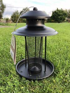 Wild Nut Or Seed Lantern Steel Large Bird Hanging Feeder Garden