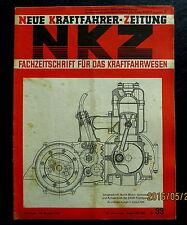 Neue Kraftfahrer Zeitung NKZ 33/1941 Svoboda-Motoren, DKW-Kupplung/Getriebe