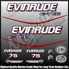 EVINRUDE ETEC - 75 hp - BLUE MOTOR - OUTBOARD DECALS