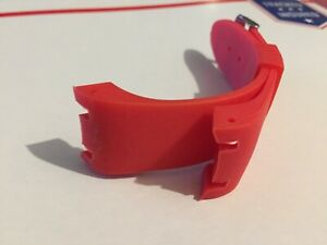 24mm red rubber band,fits joe rodeo master watch