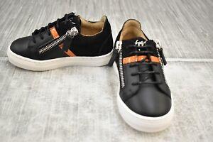 Giuseppe Zanotti Kids Gomma Kidlondon Sneaker, Toddler Girl's Size 8/EU 24-Black