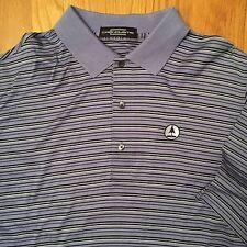 Carnoustie Men's Purple/Black Striped Polo Shirt. Size XL.