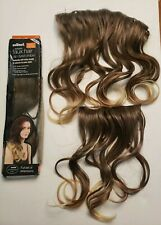 Scunci Styleable Faux Hair Dip Dyed Ombre Ends Clip Extension In Dark 16 Inch