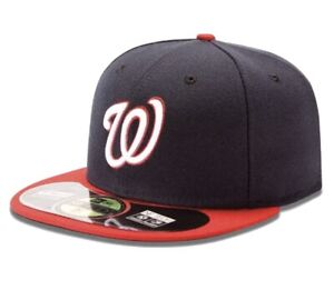 NWT Washinton Nationals Men's MLB On Field 59 Fifty Hat 7 3/8 Cool Base