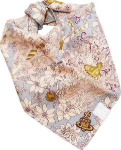 Vivienne Westwood Handkerchief Orb Bell Pattern +Gold Orb Pine Nut-50cm