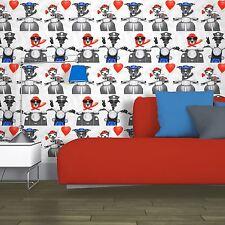 BIKER DOGS WALLPAPER ROLLS MURIVA 102561 - NEW SCOOTERS PUG PUPPY FREE P+P
