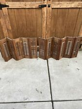 """Pair Vintage Wood Interior Louver Window Shutters Rustic Each One 36""""w x 20"""""""