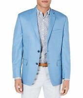 Michael Kors Mens Sport Coat Blue Size 40 Short Windowpane Classic Fit $450 054