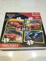 Disney Pixar Cars 3 jigsaw puzzles both 4 in 1 Trefl Jumbodiset Complete