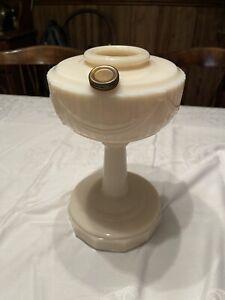 Antique Pink Aladdin ALACITE TALL LINCOLN DRAPE OIL LAMP MODEL B-75 Crow Foot