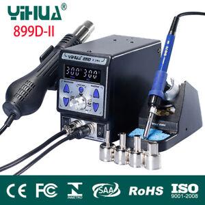 YIHUA 899D II 2in1 BGA Rework Soldering Station SMD PCB Welder Iron Hot Air Gun