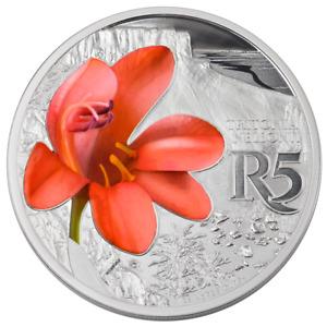 Südafrika - 10 Rand 2018 - Orange Tritonia - Waterberg Reservat - 1 Oz Silber PP