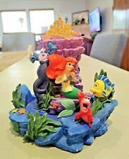 Vintage Disney Little Mermaid Figurine Ariel Ursula Eric Flounder No Glass Dome