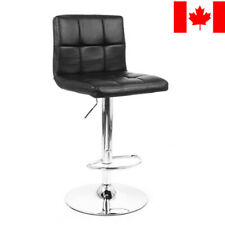 Moustache® Swivel Adjustable Black Leather Bar Stool Chairs