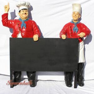 Dick & Doof Figuren Koch Figur Werbefigur Menütafel Imbiss Restaurant Aufsteller