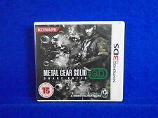 3DS METAL GEAR SOLID Snake Eater 3D PAL Uk English Version