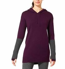 NWT Athleta Merino Nopa Hooded Sweater, Wild Raisin, sz L Large #721694