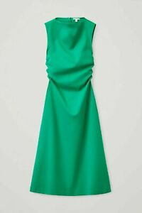 COS Green Gathered Midi Dress S BNWT 2021 sell out!