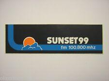 VECCHIO ADESIVO RADIO / Old Sticker _ RADIO SUNSET 99 (cm 16 x 5)