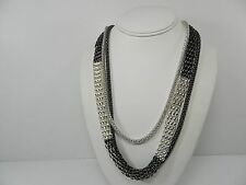 """Style&co. Silver & Hematite Tone Long Mesh Chain Link Necklace 36"""" MSRP $30"""