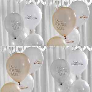 Just Married Wedding Balloons - 2 Colours - Chic / Vintage Theme - Decorations