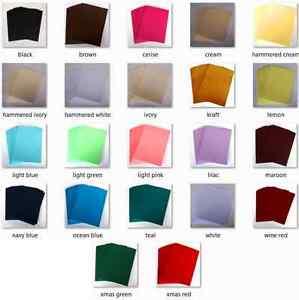 A4 Card Stock - Choose Quantity - Choose Colour - Kraft, Pink, Black + Many More