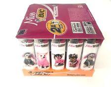 50 Genuine BIC MISS Lighter Cigarette Cigar Tobacco Puppy Dog Hot Pink