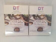 "(50) David Tutera Wedding Paper Place Cards White (3.75""x 5"") Brand New"