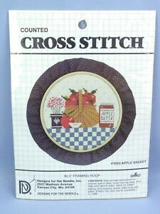 Designs for the Needle Counted Cross Stitch #3022 Apple Basket Kit