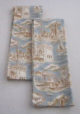 "New City Scene Toile Chicago Fabric Dinner Napkins - Set of 2 - 28"" x 16"""