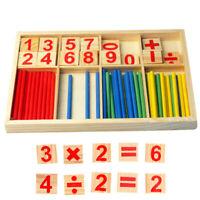 AM_ Kids Wooden Mathematical Intelligence Stick Preschool Educational Counting T