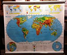 Nystrom World & United States Pull Down Map 2 Layer Markable 1NR991