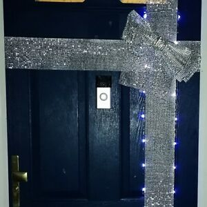 Luxury Front Door Wrap Sparkle Bow Diamante Christmas Decoration XMAS Party Home