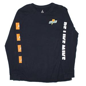 NIKE Air Jordan Black Regular Long Sleeve T-Shirt Mens XL