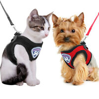 Mesh Cat Walking Harness Jacket and Leash Set Escape Proof Puppy Chihuahua Vest