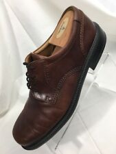 Ecco Brown Leather Plain Toe Casual Dress Oxfords Shoes Mens 44 / 10 - 10.5