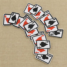 5 Pcs Embroidery Poker Playing Card Sew on Patch Badge for Jeans Hat Accessories