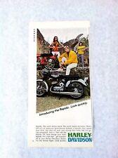 Vintage 1967 Rapido 125cc Harley Davidson Motorcycle Original Print Ad