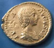 Julia Domna  Augusta Denarius Mater Deum (Mother of the Gods) Cybele ReverseVF
