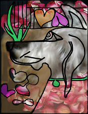 """Furry Friends Pet Prints by Marcia Treiger """"Picasso Pooch"""""""